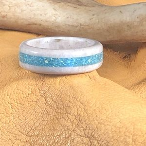Jewelry - Turquoise inlayed elk antler shed ring